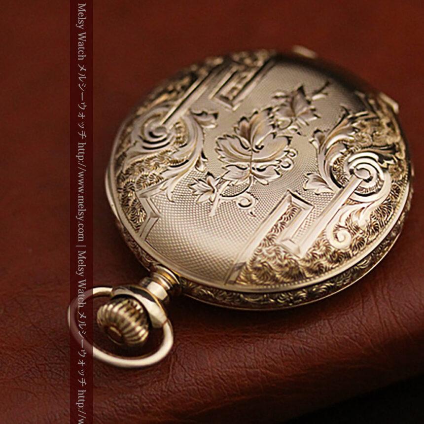 ウォルサムの絢爛なアンティーク金無垢懐中時計 【1896年製】-P2167-11