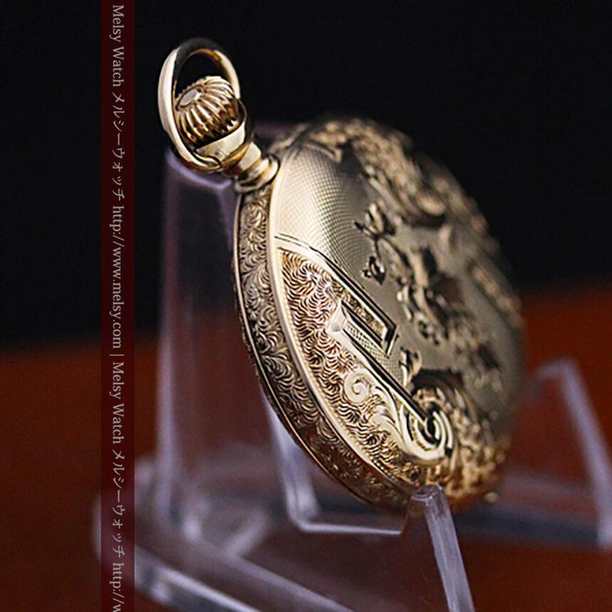 ウォルサムの絢爛なアンティーク金無垢懐中時計 【1896年製】-P2167-12