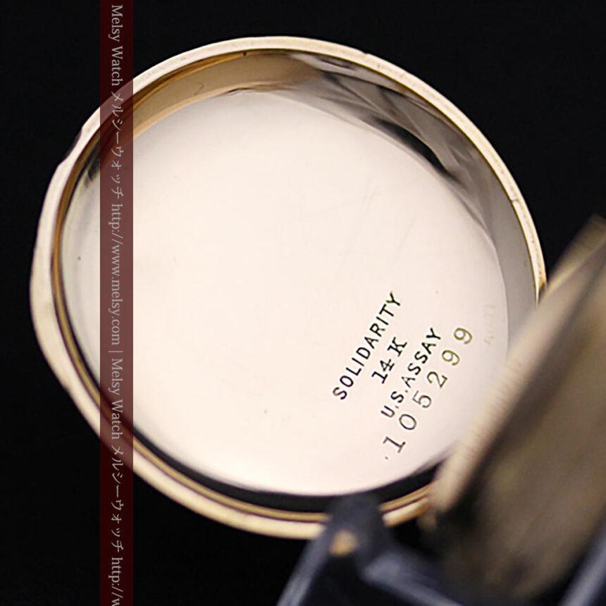 ウォルサムの絢爛なアンティーク金無垢懐中時計 【1896年製】-P2167-14