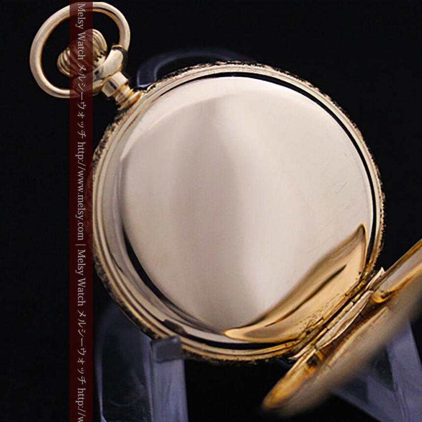ウォルサムの絢爛なアンティーク金無垢懐中時計 【1896年製】-P2167-15