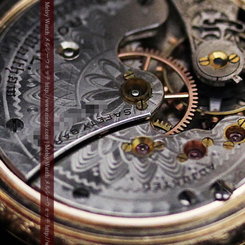 ウォルサムの絢爛なアンティーク金無垢懐中時計 【1896年製】-P2167-18
