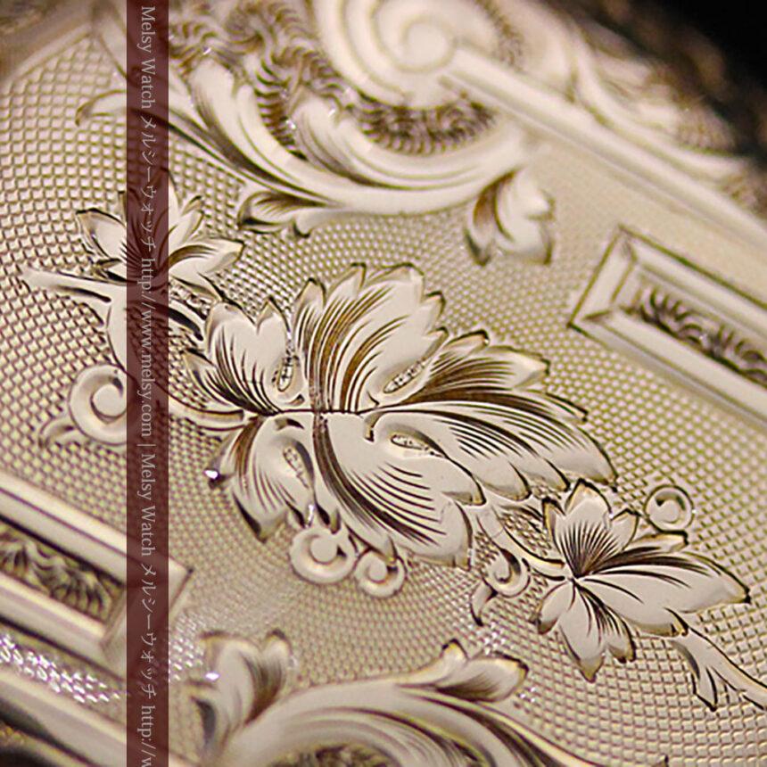 ウォルサムの絢爛なアンティーク金無垢懐中時計 【1896年製】-P2167-3