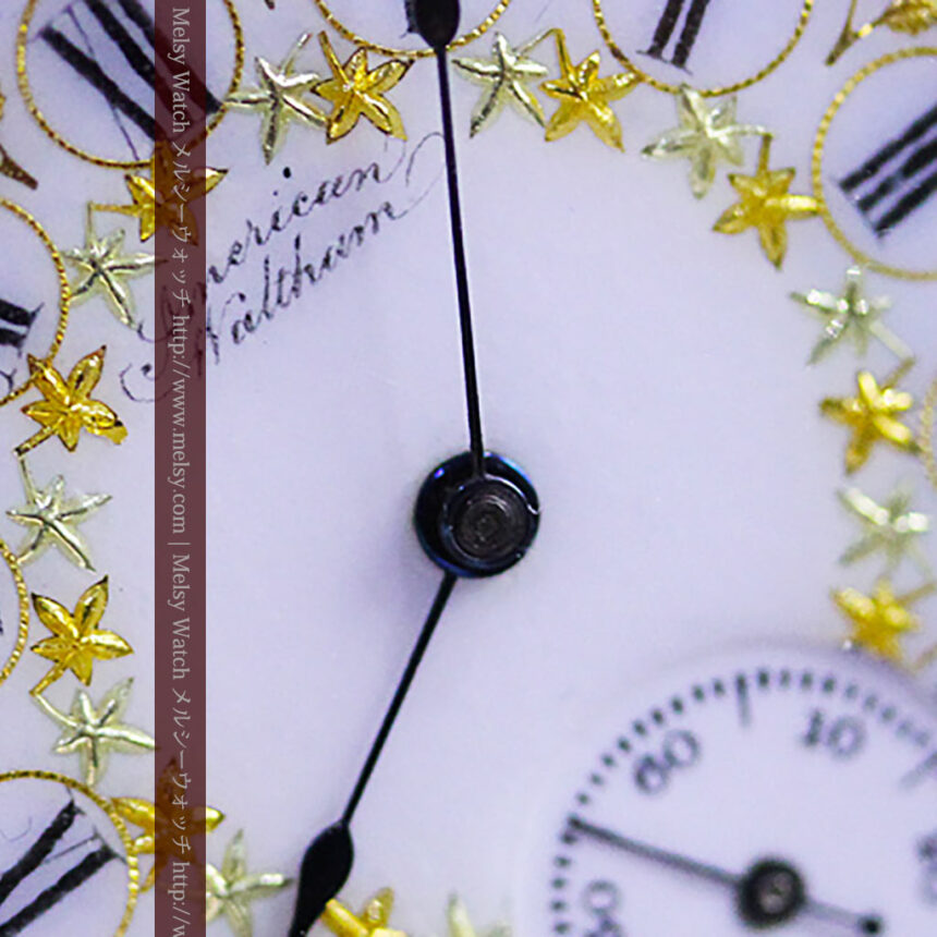 ウォルサムの絢爛なアンティーク金無垢懐中時計 【1896年製】-P2167-5