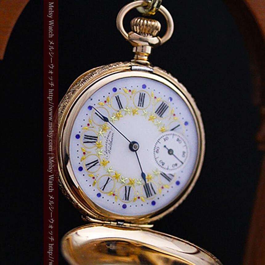 ウォルサムの絢爛なアンティーク金無垢懐中時計 【1896年製】-P2167-7