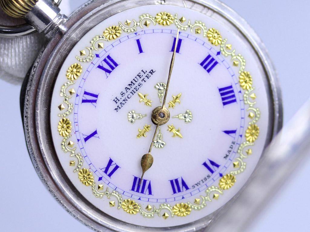 スイス製のアンティーク懐中時計-P2198-2