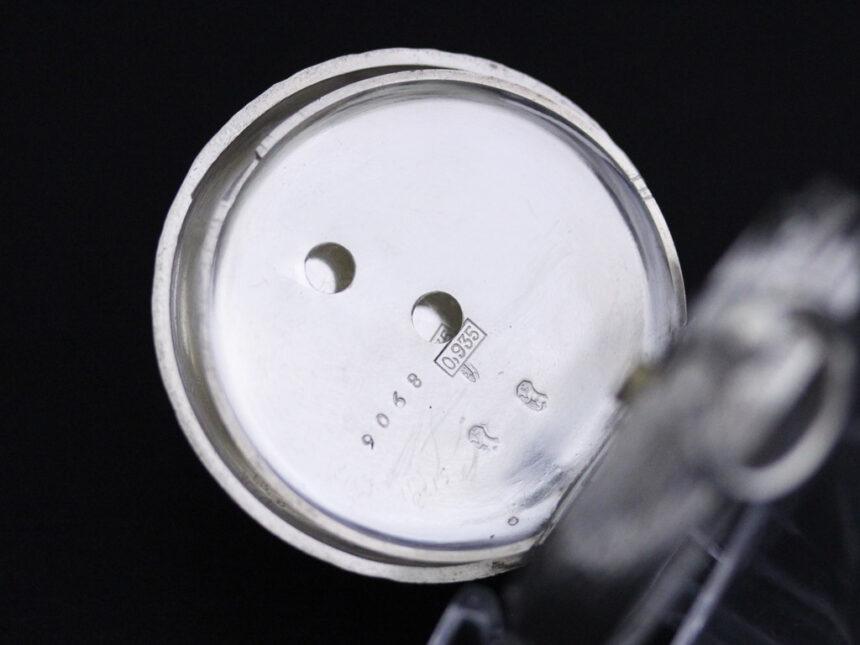 スイス製の銀無垢アンティーク懐中時計-P2200-16
