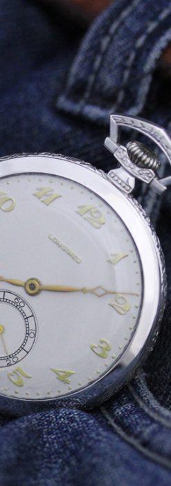 ロンジンのアンティーク懐中時計-P2202-2