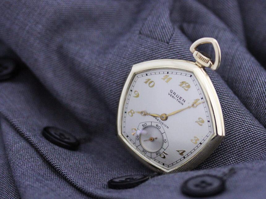 グリュエンのアンティーク懐中時計-P2203-1