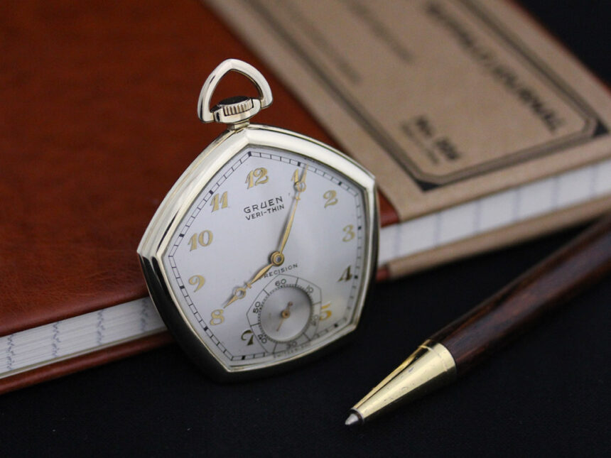 グリュエンのアンティーク懐中時計-P2203-3