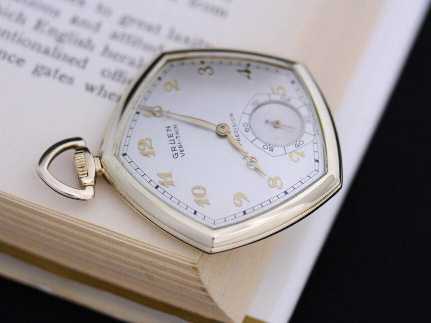 グリュエンのアンティーク懐中時計-P2203-4