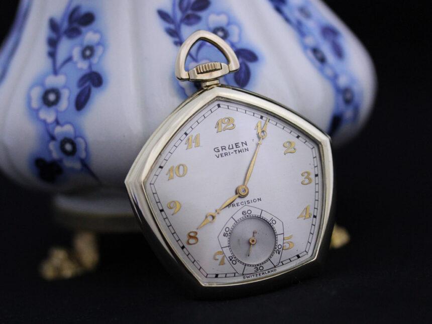 グリュエンのアンティーク懐中時計-P2203-5