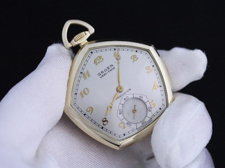 グリュエンのアンティーク懐中時計-P2203-6