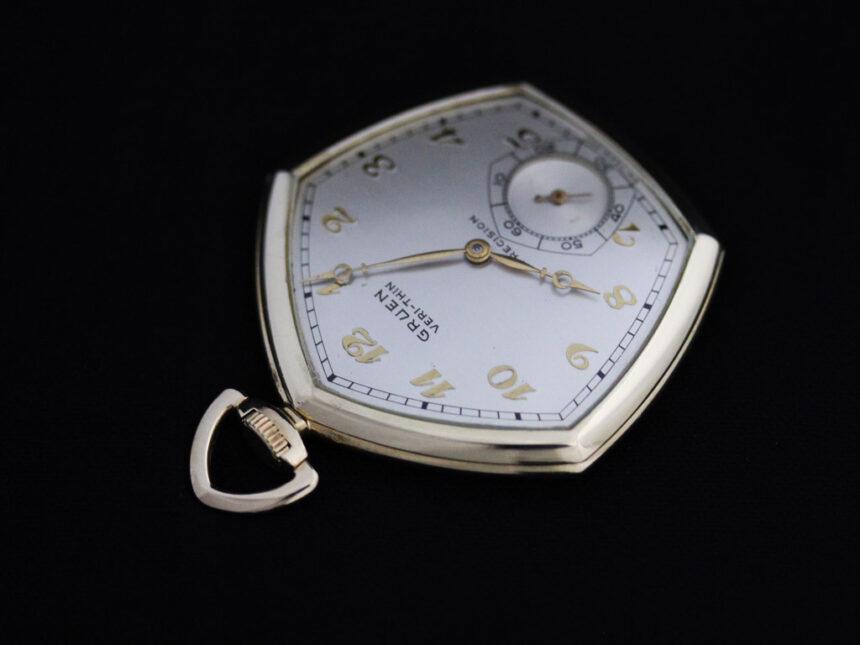 グリュエンのアンティーク懐中時計-P2203-7