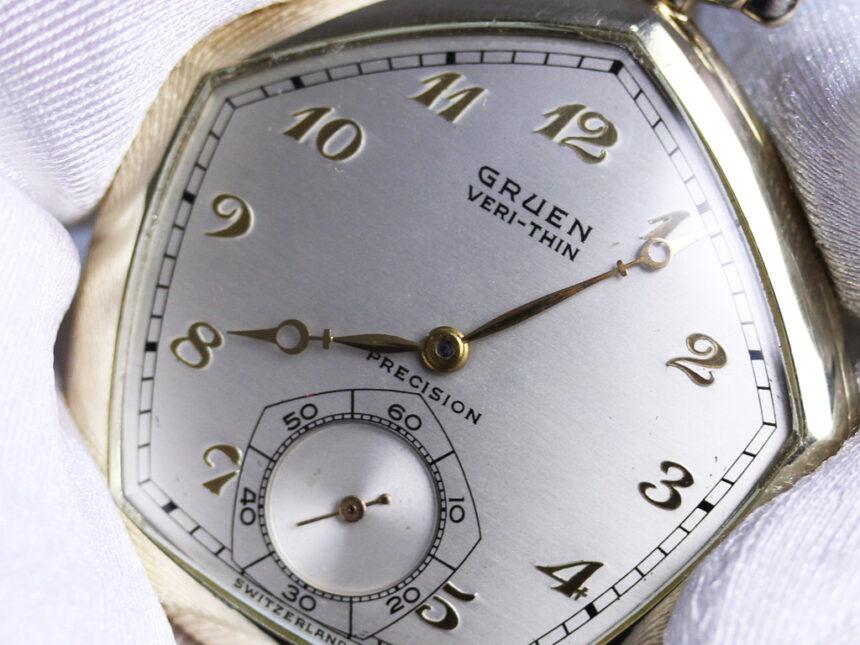グリュエンのアンティーク懐中時計-P2203-9