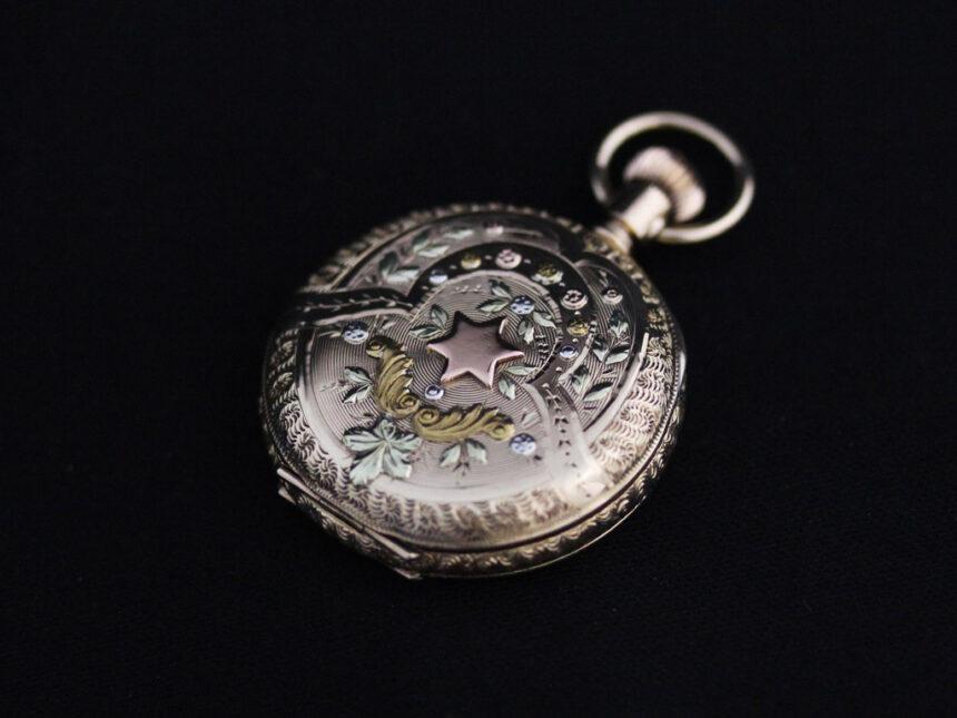エルジンのアンティーク懐中時計-P2204-10