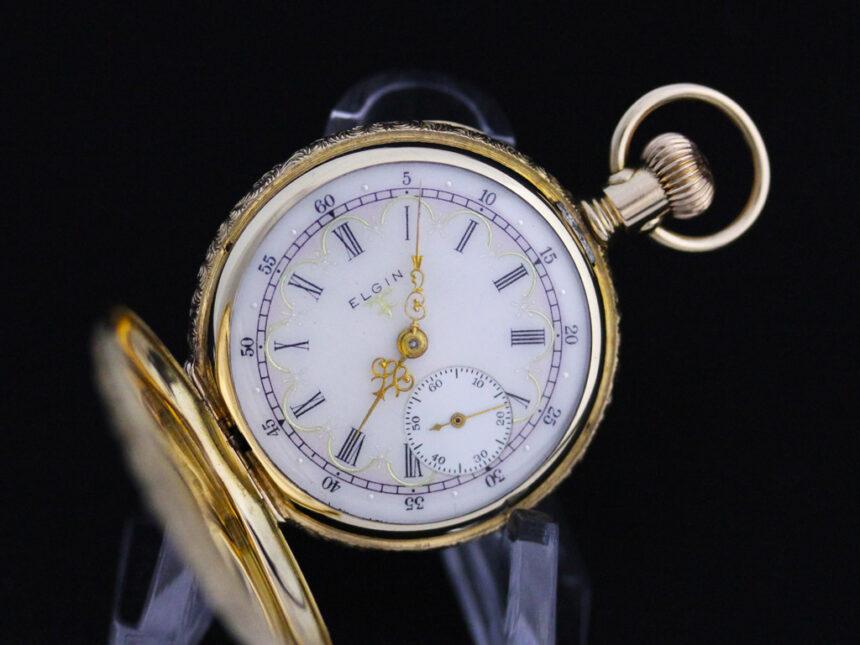エルジンのアンティーク懐中時計-P2204-12