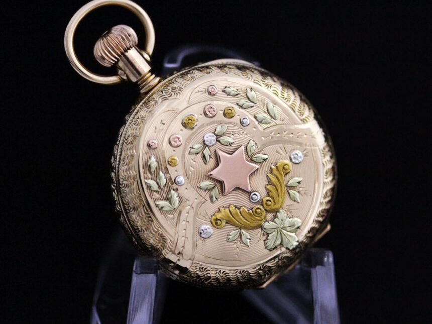 エルジンのアンティーク懐中時計-P2204-14