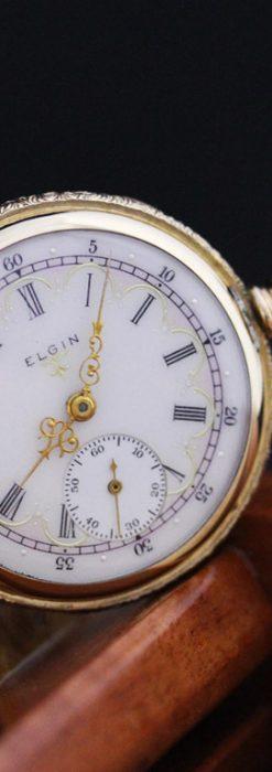 エルジンのアンティーク懐中時計-P2204-2