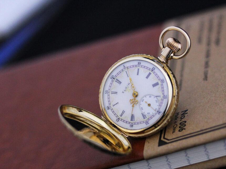 エルジンのアンティーク懐中時計-P2204-3