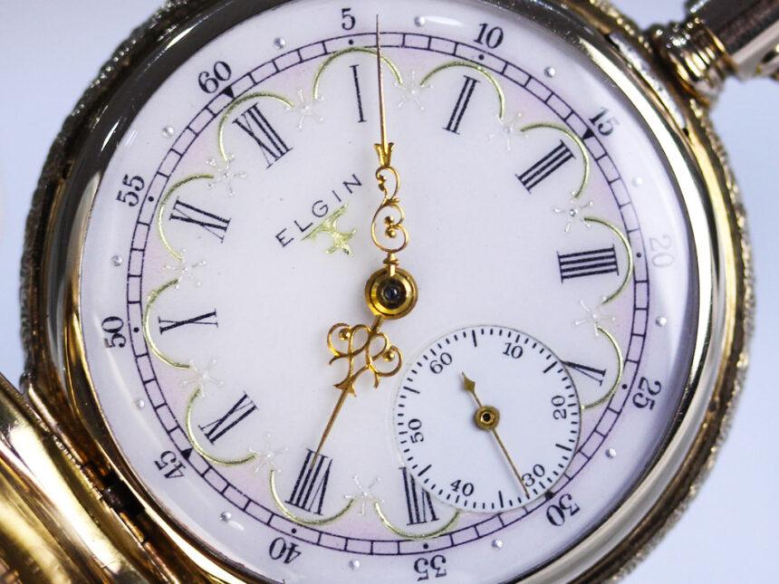 エルジンのアンティーク懐中時計-P2204-6