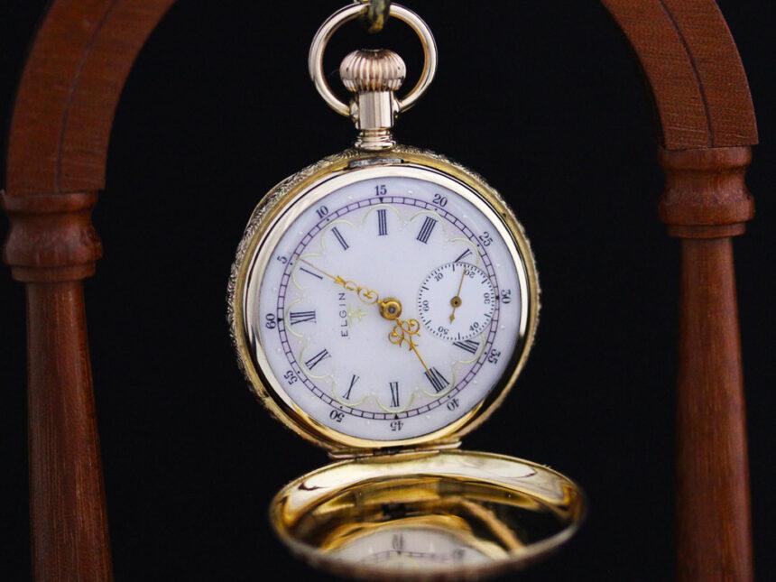 エルジンのアンティーク懐中時計-P2204-7