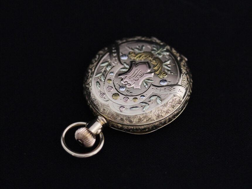 エルジンのアンティーク懐中時計-P2204-9