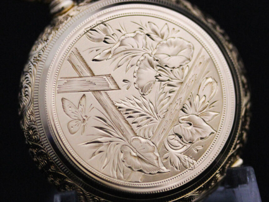 エルジンのアンティーク懐中時計-P2205-1
