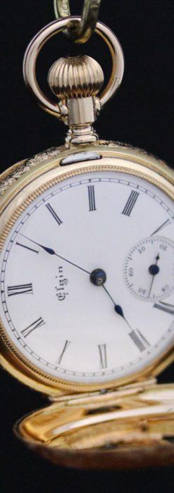 エルジンのアンティーク懐中時計-P2205-10