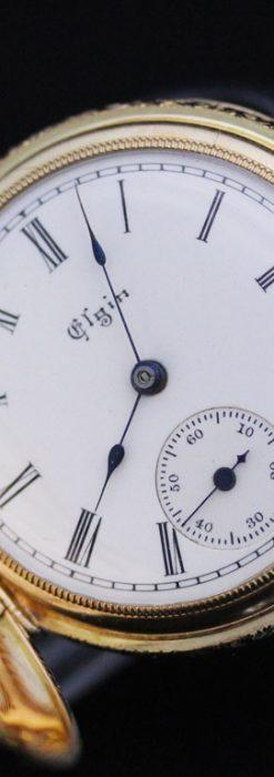 エルジンのアンティーク懐中時計-P2205-11