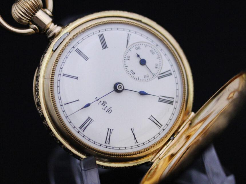 エルジンのアンティーク懐中時計-P2205-12