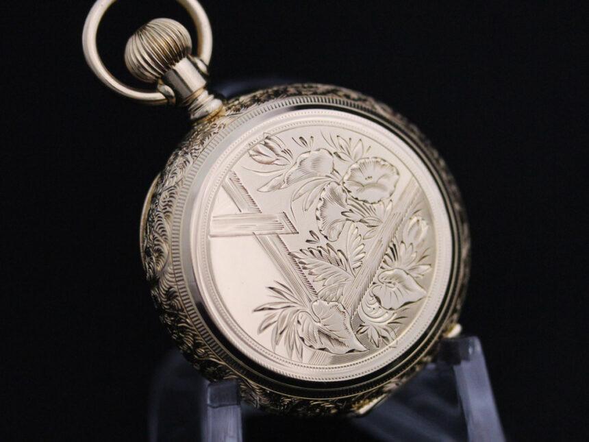 エルジンのアンティーク懐中時計-P2205-14