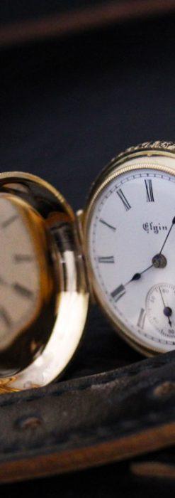 エルジンのアンティーク懐中時計-P2205-2
