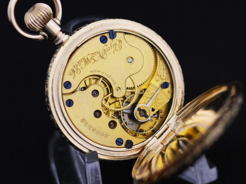 エルジンのアンティーク懐中時計-P2205-20
