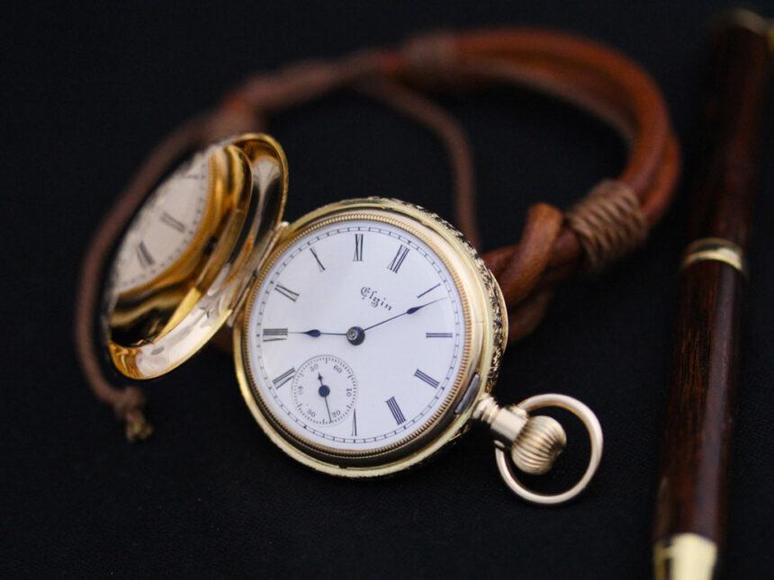 エルジンのアンティーク懐中時計-P2205-3