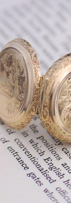 エルジンのアンティーク懐中時計-P2205-4