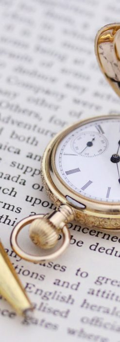 エルジンのアンティーク懐中時計-P2205-5