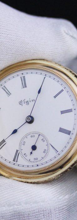 エルジンのアンティーク懐中時計-P2205-6