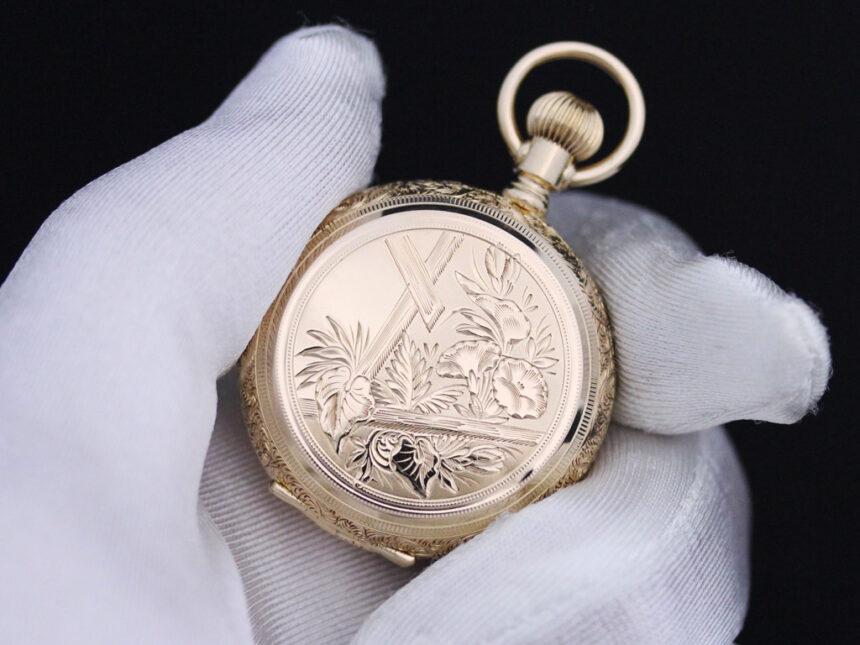 エルジンのアンティーク懐中時計-P2205-7