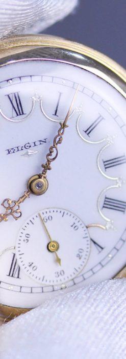 エルジンのアンティーク懐中時計-P2207-2