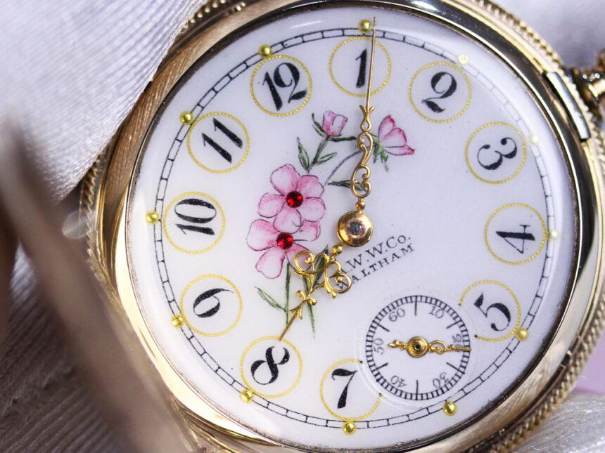 ウォルサムのアンティーク懐中時計-P2208-2