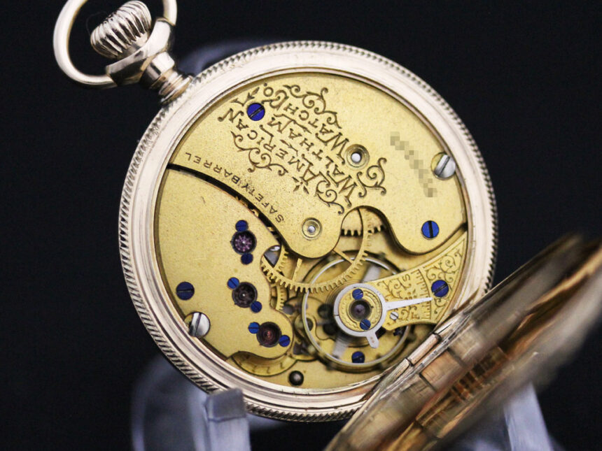 ウォルサムのアンティーク懐中時計-P2208-22