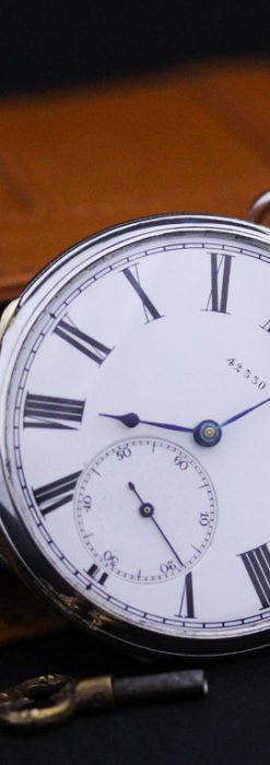 無銘のアンティーク懐中時計-P2209-2