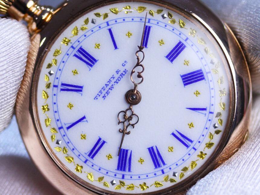ティファニーのアンティーク懐中時計-P2211-1
