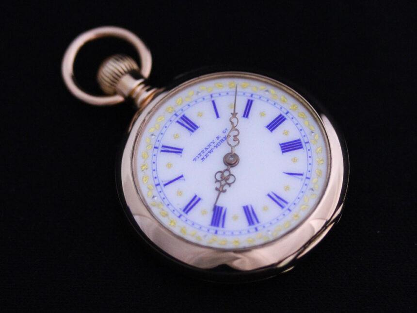 ティファニーのアンティーク懐中時計-P2211-11