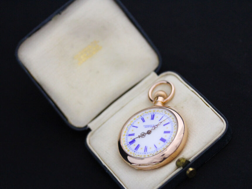 ティファニーのアンティーク懐中時計-P2211-25