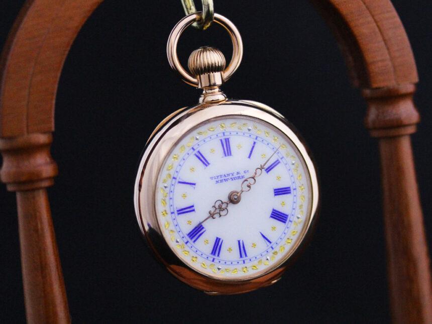 ティファニーのアンティーク懐中時計-P2211-4