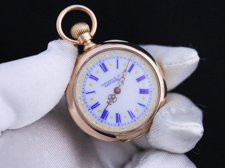 ティファニーのアンティーク懐中時計-P2211-7