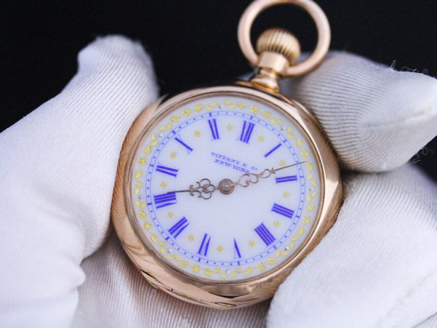 ティファニーのアンティーク懐中時計-P2211-8