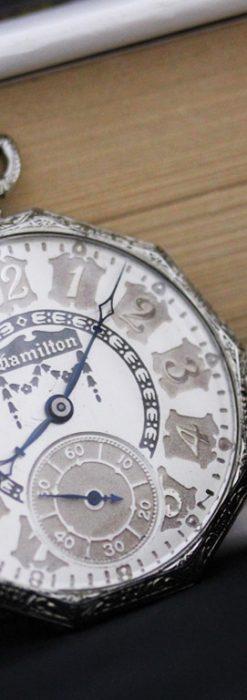 ハミルトンのアンティーク懐中時計-P2212-2