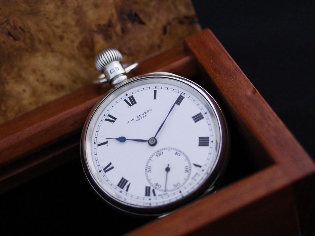 ベンソンのアンティーク懐中時計-P2213-2